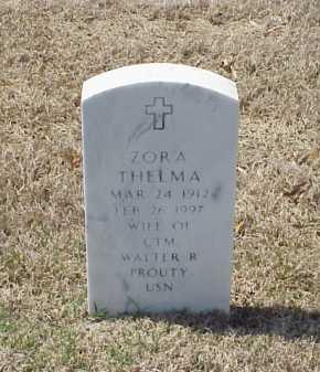 PROUTY, ZORA THELMA - Pulaski County, Arkansas | ZORA THELMA PROUTY - Arkansas Gravestone Photos