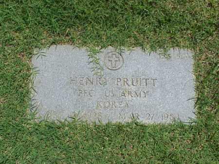 PRUITT (VETERAN KOR), HENRY - Pulaski County, Arkansas | HENRY PRUITT (VETERAN KOR) - Arkansas Gravestone Photos