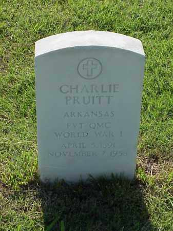 PRUITT (VETERAN WWI), CHARLIE - Pulaski County, Arkansas | CHARLIE PRUITT (VETERAN WWI) - Arkansas Gravestone Photos