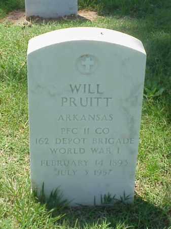PRUITT (VETERAN WWI), WILL - Pulaski County, Arkansas | WILL PRUITT (VETERAN WWI) - Arkansas Gravestone Photos