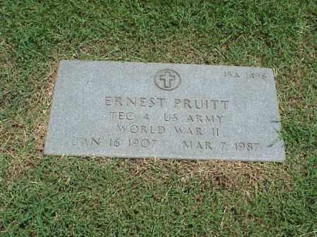 PRUITT (VETERAN WWII), ERNEST - Pulaski County, Arkansas | ERNEST PRUITT (VETERAN WWII) - Arkansas Gravestone Photos
