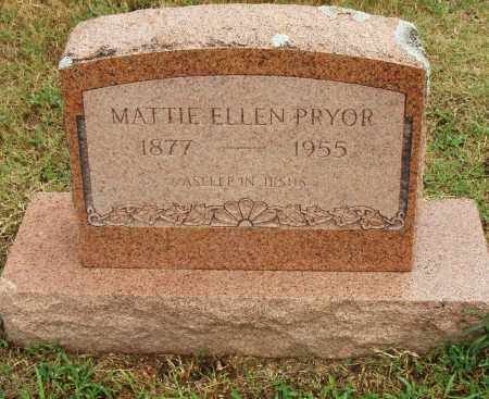 PRYOR, MATTIE ELLEN - Pulaski County, Arkansas | MATTIE ELLEN PRYOR - Arkansas Gravestone Photos