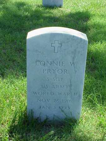 PRYOR (VETERAN WWII), LONNIE W - Pulaski County, Arkansas | LONNIE W PRYOR (VETERAN WWII) - Arkansas Gravestone Photos