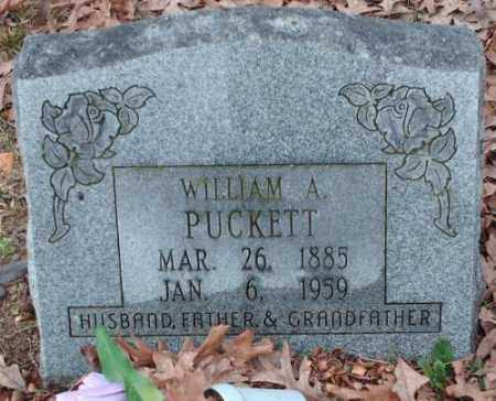 PUCKETT, WILLIAM A. - Pulaski County, Arkansas | WILLIAM A. PUCKETT - Arkansas Gravestone Photos
