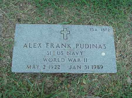 PUDINAS (VETERAN WWII), ALEX FRANK - Pulaski County, Arkansas | ALEX FRANK PUDINAS (VETERAN WWII) - Arkansas Gravestone Photos