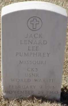 PUMPHREY  (VETERAN WWII), JACK LENARD LEE - Pulaski County, Arkansas | JACK LENARD LEE PUMPHREY  (VETERAN WWII) - Arkansas Gravestone Photos