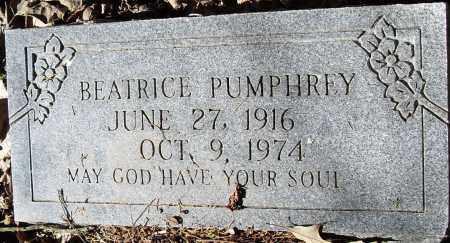 PUMPHREY, BEATRICE - Pulaski County, Arkansas | BEATRICE PUMPHREY - Arkansas Gravestone Photos