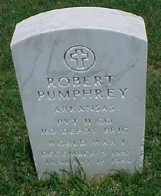 PUMPHREY (VETERAN WWI), ROBERT - Pulaski County, Arkansas | ROBERT PUMPHREY (VETERAN WWI) - Arkansas Gravestone Photos