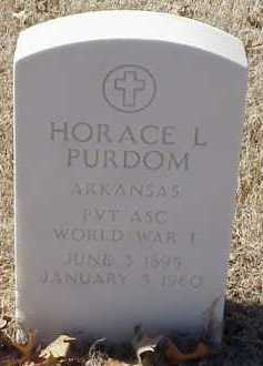 PURDOM  (VETERAN WWI), HORACE L - Pulaski County, Arkansas | HORACE L PURDOM  (VETERAN WWI) - Arkansas Gravestone Photos