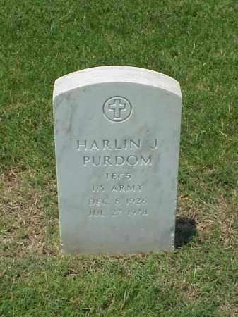 PURDOM (VETERAN WWII), HARLIN J - Pulaski County, Arkansas | HARLIN J PURDOM (VETERAN WWII) - Arkansas Gravestone Photos