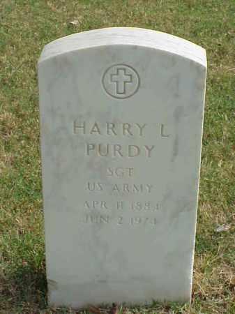 PURDY (VETERAN), HARRY L - Pulaski County, Arkansas | HARRY L PURDY (VETERAN) - Arkansas Gravestone Photos