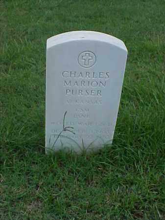 PURSER (VETERAN WWII), CHARLES MARION - Pulaski County, Arkansas | CHARLES MARION PURSER (VETERAN WWII) - Arkansas Gravestone Photos