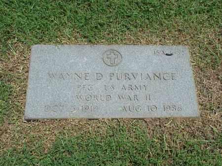 PURVIANCE (VETERAN WWII), WAYNE D - Pulaski County, Arkansas | WAYNE D PURVIANCE (VETERAN WWII) - Arkansas Gravestone Photos