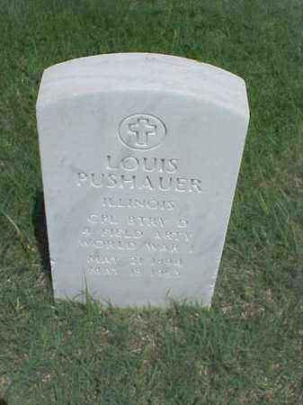 PUSHAUER (VETERAN WWI), LOUIS - Pulaski County, Arkansas | LOUIS PUSHAUER (VETERAN WWI) - Arkansas Gravestone Photos