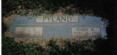 PARK PYLAND, MARIE  KATHERINE - Pulaski County, Arkansas | MARIE  KATHERINE PARK PYLAND - Arkansas Gravestone Photos