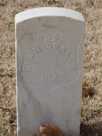 QUALLS (VETERAN UNION), EVAN - Pulaski County, Arkansas | EVAN QUALLS (VETERAN UNION) - Arkansas Gravestone Photos