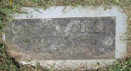 QUEEN, LORETTA E. - Pulaski County, Arkansas | LORETTA E. QUEEN - Arkansas Gravestone Photos