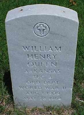 QUEEN (VETERAN WWII), WILLIAM HENRY - Pulaski County, Arkansas | WILLIAM HENRY QUEEN (VETERAN WWII) - Arkansas Gravestone Photos