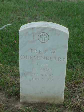 QUESENBERRY (VETERAN 2 WARS), FRED W - Pulaski County, Arkansas | FRED W QUESENBERRY (VETERAN 2 WARS) - Arkansas Gravestone Photos