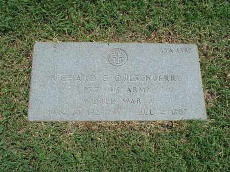 QUESENBERRY (VETERAN WWII), RICHARD C - Pulaski County, Arkansas | RICHARD C QUESENBERRY (VETERAN WWII) - Arkansas Gravestone Photos