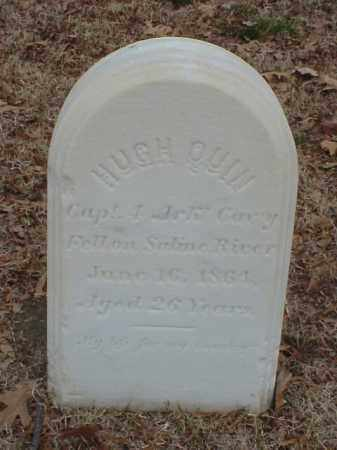 QUIN (VETERAN UNION), HUGH - Pulaski County, Arkansas | HUGH QUIN (VETERAN UNION) - Arkansas Gravestone Photos