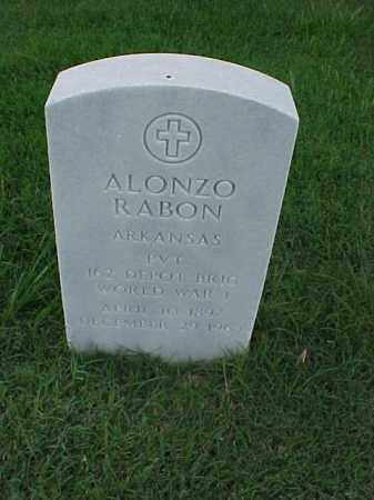 RABON (VETERAN WWI), ALONZO - Pulaski County, Arkansas | ALONZO RABON (VETERAN WWI) - Arkansas Gravestone Photos