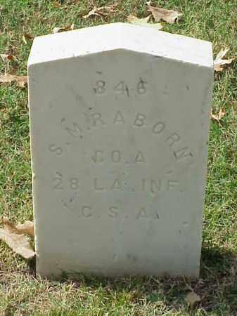 RABORN (VETERAN CSA), S M - Pulaski County, Arkansas | S M RABORN (VETERAN CSA) - Arkansas Gravestone Photos