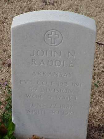 RADDLE (VETERAN WWI), JOHN N - Pulaski County, Arkansas | JOHN N RADDLE (VETERAN WWI) - Arkansas Gravestone Photos