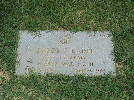 RADEL (VETERAN 2 WARS), JACOB C - Pulaski County, Arkansas | JACOB C RADEL (VETERAN 2 WARS) - Arkansas Gravestone Photos