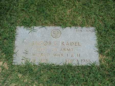 RADEL (VETERAN 2 WARS), JACOB C - Pulaski County, Arkansas | JACOB C RADEL (VETERAN 2 WARS) - Arkansas Gravestone Photos