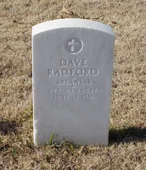 RADFORD (VETERAN WWI), DAVE - Pulaski County, Arkansas | DAVE RADFORD (VETERAN WWI) - Arkansas Gravestone Photos