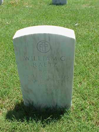 RAETZ (VETERAN 2 WARS), WILLIAM G - Pulaski County, Arkansas | WILLIAM G RAETZ (VETERAN 2 WARS) - Arkansas Gravestone Photos