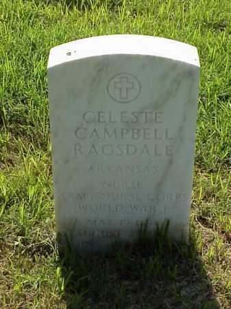 CAMPBELL RAGSDALE (VETERAN WWI, CELESTE - Pulaski County, Arkansas | CELESTE CAMPBELL RAGSDALE (VETERAN WWI - Arkansas Gravestone Photos