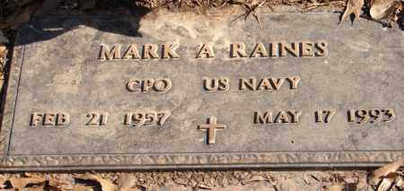 RAINES (VETERAN), MARK A - Pulaski County, Arkansas | MARK A RAINES (VETERAN) - Arkansas Gravestone Photos