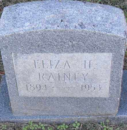 RAINEY, ELIZA H - Pulaski County, Arkansas | ELIZA H RAINEY - Arkansas Gravestone Photos