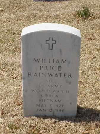 RAINWATER (VETERAN 3 WARS), WILLIAM PRICE - Pulaski County, Arkansas | WILLIAM PRICE RAINWATER (VETERAN 3 WARS) - Arkansas Gravestone Photos