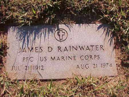 RAINWATER (VETERAN), JAMES D - Pulaski County, Arkansas   JAMES D RAINWATER (VETERAN) - Arkansas Gravestone Photos