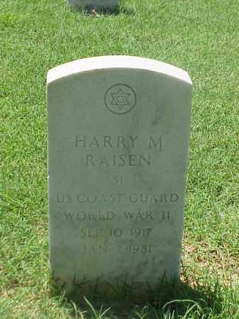 RAISEN (VETERAN WWII), HARRY M - Pulaski County, Arkansas | HARRY M RAISEN (VETERAN WWII) - Arkansas Gravestone Photos