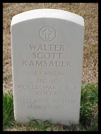 RAMSAUER (VETERAN 3 WARS), WALTER SCOTT - Pulaski County, Arkansas | WALTER SCOTT RAMSAUER (VETERAN 3 WARS) - Arkansas Gravestone Photos
