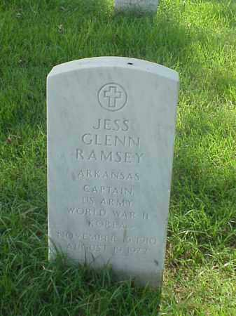 RAMSEY (VETERAN 2 WARS), JESS GLENN - Pulaski County, Arkansas | JESS GLENN RAMSEY (VETERAN 2 WARS) - Arkansas Gravestone Photos