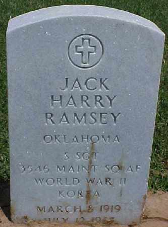 RAMSEY (VETERAN 2 WARS), JACK HARRY - Pulaski County, Arkansas | JACK HARRY RAMSEY (VETERAN 2 WARS) - Arkansas Gravestone Photos
