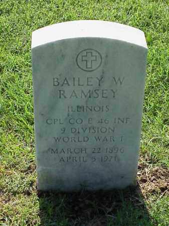 RAMSEY (VETERAN WWI), BAILEY W - Pulaski County, Arkansas | BAILEY W RAMSEY (VETERAN WWI) - Arkansas Gravestone Photos