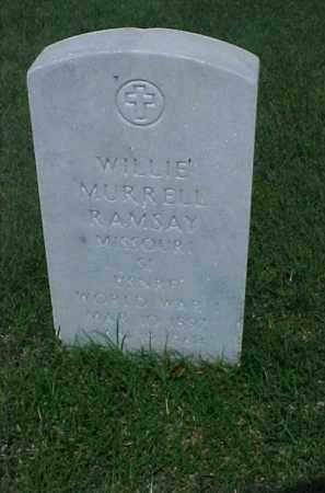 RAMSEY (VETERAN WWI), WILLIE MURRELL - Pulaski County, Arkansas | WILLIE MURRELL RAMSEY (VETERAN WWI) - Arkansas Gravestone Photos