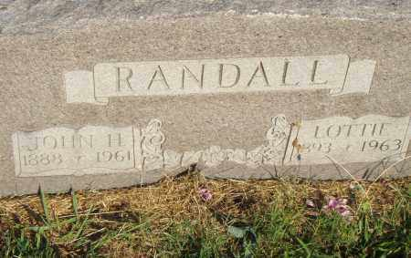 RANDALL, LOTTIE - Pulaski County, Arkansas | LOTTIE RANDALL - Arkansas Gravestone Photos