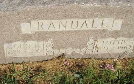 RANDALL, JOHN H. - Pulaski County, Arkansas | JOHN H. RANDALL - Arkansas Gravestone Photos