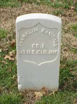 RANDALL (VETERAN UNION), FRANKLIN - Pulaski County, Arkansas | FRANKLIN RANDALL (VETERAN UNION) - Arkansas Gravestone Photos