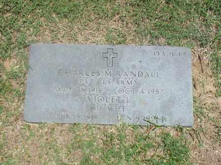 RANDALL (VETERAN WWII), CHARLES M - Pulaski County, Arkansas | CHARLES M RANDALL (VETERAN WWII) - Arkansas Gravestone Photos