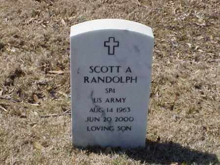 RANDOLPH  (VETERAN), SCOTT A - Pulaski County, Arkansas | SCOTT A RANDOLPH  (VETERAN) - Arkansas Gravestone Photos