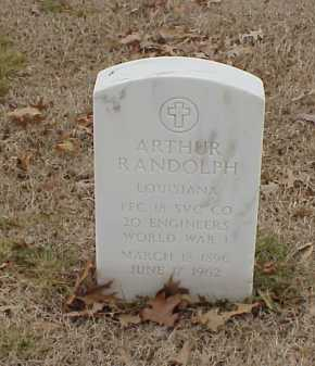 RANDOLPH  (VETERAN WWI), ARTHUR - Pulaski County, Arkansas | ARTHUR RANDOLPH  (VETERAN WWI) - Arkansas Gravestone Photos