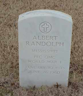 RANDOLPH  (VETERAN WWI), ALBERT - Pulaski County, Arkansas | ALBERT RANDOLPH  (VETERAN WWI) - Arkansas Gravestone Photos